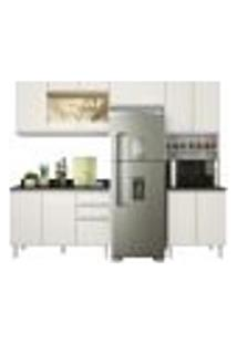 Cozinha Modulada 04 Peças 100% Mdf Kali Premium Branco Off White Nicioli