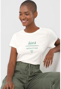 Camiseta Cantão Água Intuitiva Off-White