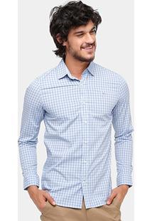 Camisa Xadrez Lacoste Slim Fit City Masculina - Masculino