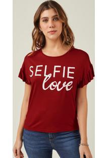 Blusa Vermelho Selfie Love