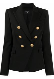 Balmain Double-Breasted Tailored Blazer - Preto
