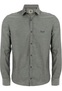 Camisa Manga Longa Aes 1975 Masculina - Masculino-Cinza