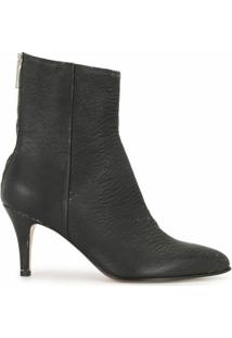 Mm6 Maison Margiela Ankle Boot Texturizada - Preto