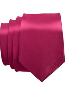 Gravata Unyforme Slim - Masculino-Rosa Escuro