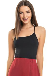 Body Up Close Strappy Preto - Preto - Feminino - Dafiti
