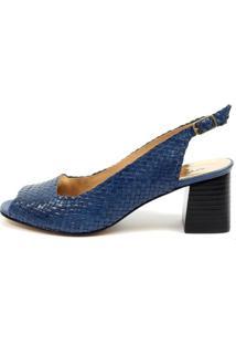 Sandália Cláudia Mourão Premium (967979) Couro Azul
