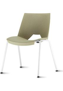 Cadeira Strike Assento Bege Base Cinza - 54072 - Sun House