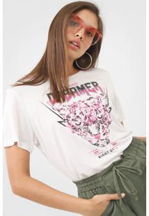 Camiseta Colcci Dreamer Off-White