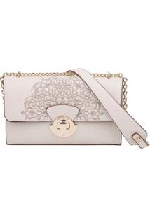 Bolsa Clutch Tiracolo Fellipe Krein - Feminino-Off White