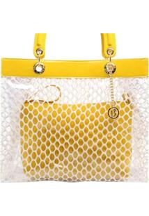 44901a529 ... Bolsa Birô Cristal Tela Feminina - Feminino-Amarelo