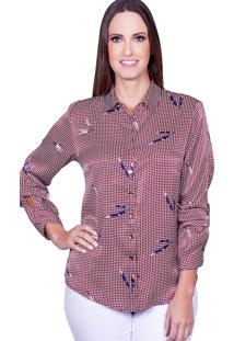 Camisa Love Poetry Estampada Burgandy