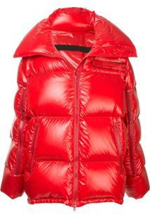 Calvin Klein 205W39Nyc Jaqueta Matelassê Com Zíper - Vermelho