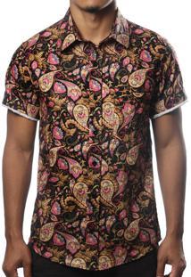 Camisa Camaleão Urbano Arabesco Preta