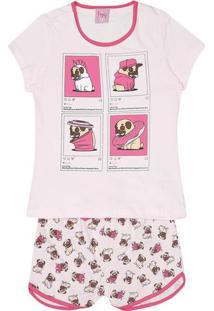 """Short Doll """"Pug""""- Rosa Claro & Rosaevanilda"""