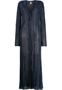 M Missoni Long Length Knitted Cardigan - Azul