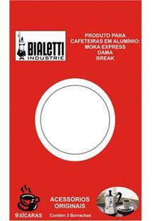 Borracha Para Cafeteira 9 Xícaras Bialetti 3 Peças - 9316
