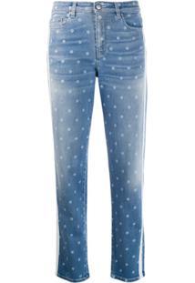 Karl Lagerfeld Calça Jeans Skinny Karl Dots - Azul