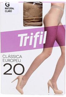Meia Calça Trifil Fio 20 Europeu Feminina - Feminino-Marrom Claro