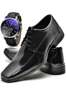 Sapato Social Relógio Top Flex 804L Preto