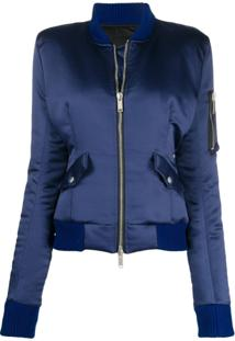 Unravel Project Sateen Down Bomber Jacket - Azul