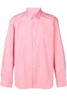 Comme Des Garçons Homme Plus Camisa Mangas Longas - Rosa