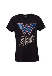 Camiseta Mulher Maravilha Liga Da Justiça 80'S - Feminina