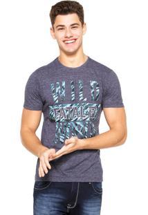 Camiseta Fatal Surf Reta Azul