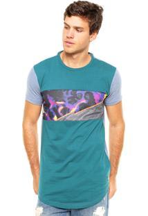 Camiseta Fatal Surf Urban Style Verde/Azul