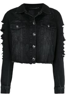 Philipp Plein Jaqueta Jeans 'Only Patches' - Preto
