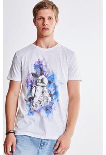 Camiseta Astronauta Aquarelado