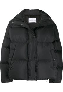 Stand Studio Oversized Feather Down Jacket - Preto