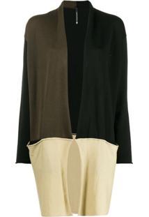 Pierantoniogaspari Contrast Knit Cardigan - Preto