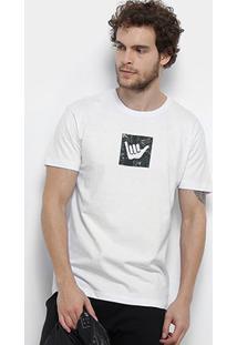 Camiseta Hang Loose Silk Camou Masculina - Masculino-Branco