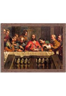 Quadro Decorativo Religião A Ceia De Cristo Madeira - Grande