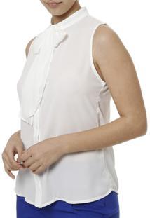 Camisa Manga Curta Feminina Autentique - Feminino-Branco