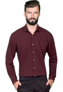 Camisa Hugo Rossi Micro Listra Bordô - Masculino