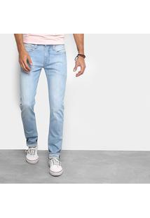 Calça Jeans Colcci Alex Lavagem Clara Masculina - Masculino-Azul Claro