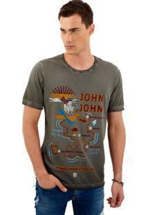 Camiseta John John Rg Danger Beach Malha Cinza Masculina Tshirt Rg Danger Beach-Cinza Chumbo-G