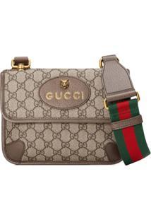 Gucci Bolsa Carteiro Gg Supreme Pequena - Neutro