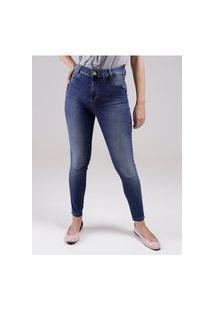 Calça Jeans Push Up Sawary Feminina Azul