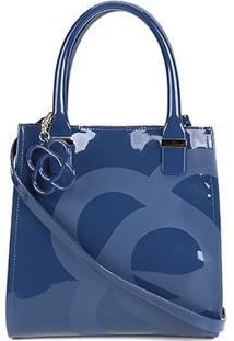 Bolsa Petite Jolie Handbag Folder Feminina - Feminino-Marinho