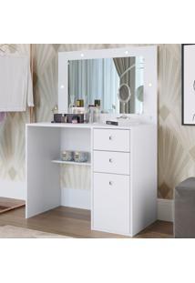 Penteadeira Super Star 1 Porta 2 Gavetas Com Espelho Pe908 Branco - Art In Móveis