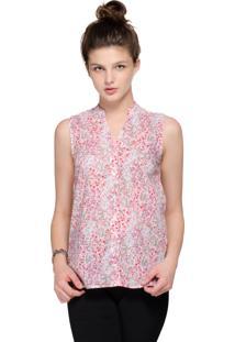 Camisa Intens Sem Manga Algodão Rosa