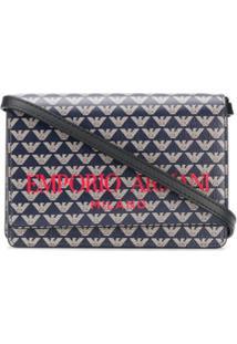 Emporio Armani Monogram Mini Crossbody Bag - Azul