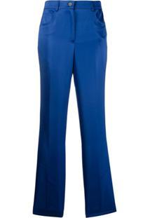 Helmut Lang Calça De Cetim - Azul