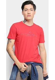 Camiseta Ellus Basic Masculina - Masculino-Vermelho