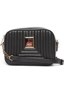 Bolsa Vizzano Mini Bag Transversal Matelassê Feminina - Feminino-Preto