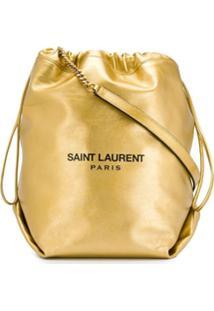 Saint Laurent Bolsa Saco Teddy - Dourado