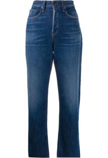 Rag & Bone Calça Jeans Reta Maya Cintura Alta - Azul