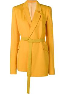 House Of Holland Blazer Assimétrico - Laranja